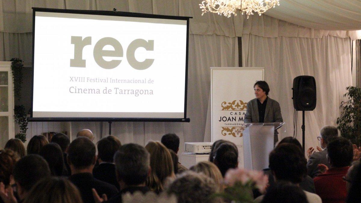 Xavier García Puerto, director del REC, en la presentació de la divuitena edició del certamen