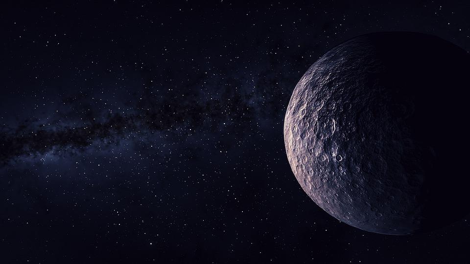 Visión del espacio con un planeta en primer plano