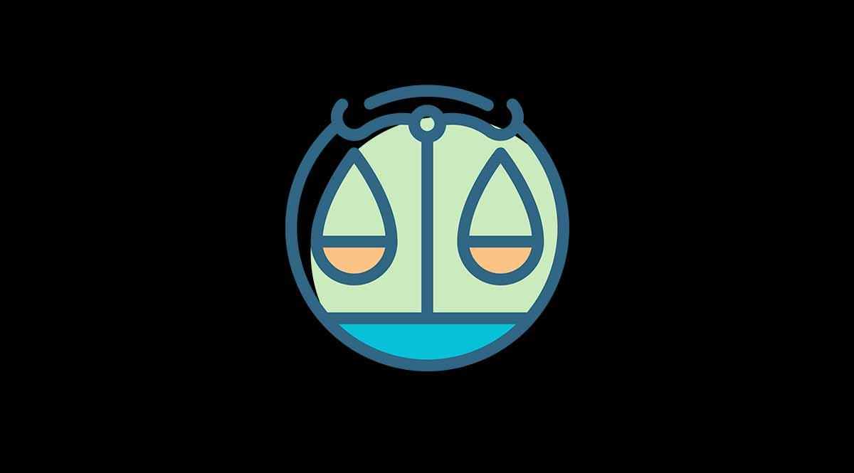 Símbolo del signo del zodiaco Libra