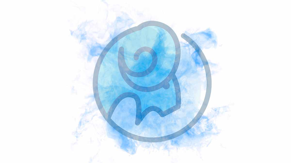 The Capricorn sign on a blue smoky blackground