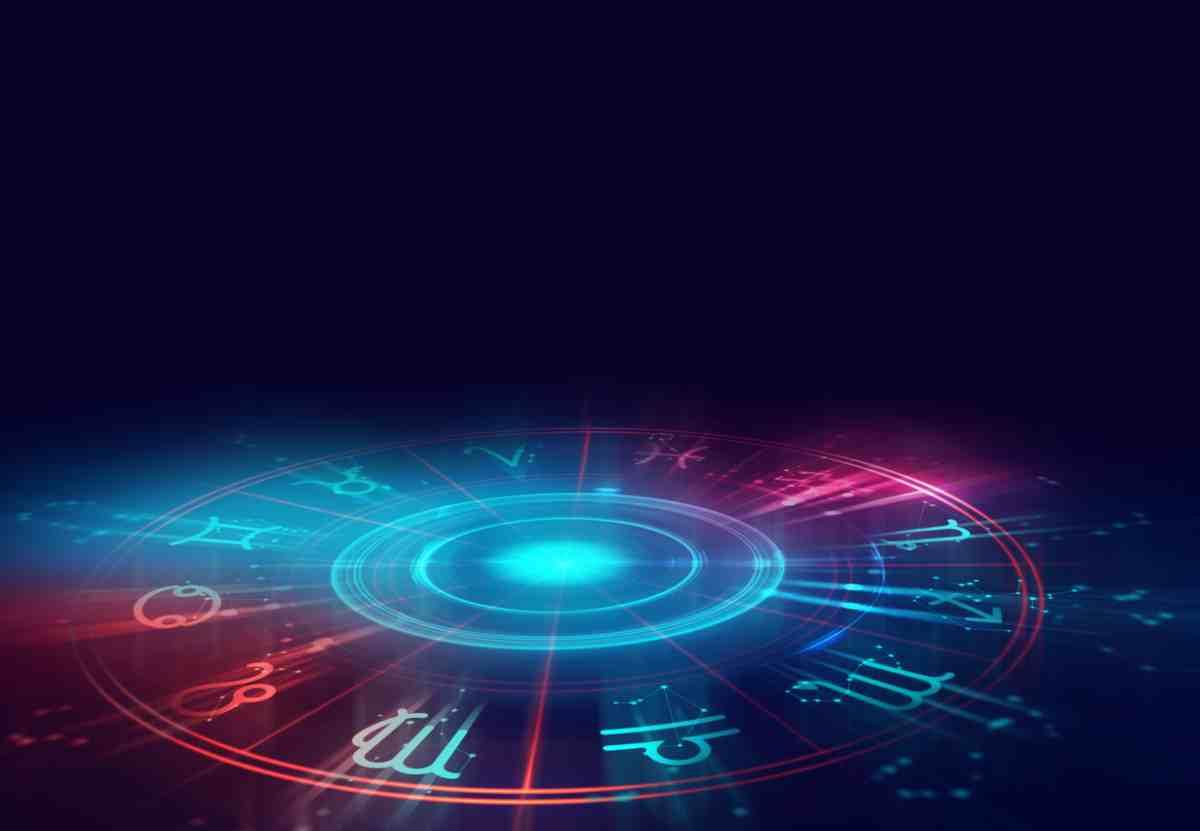 Les 12 signes du zodiaque inclinés en cercle