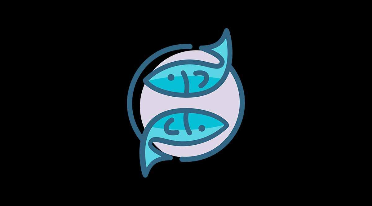 Símbolo del signo del zodiaco Piscis