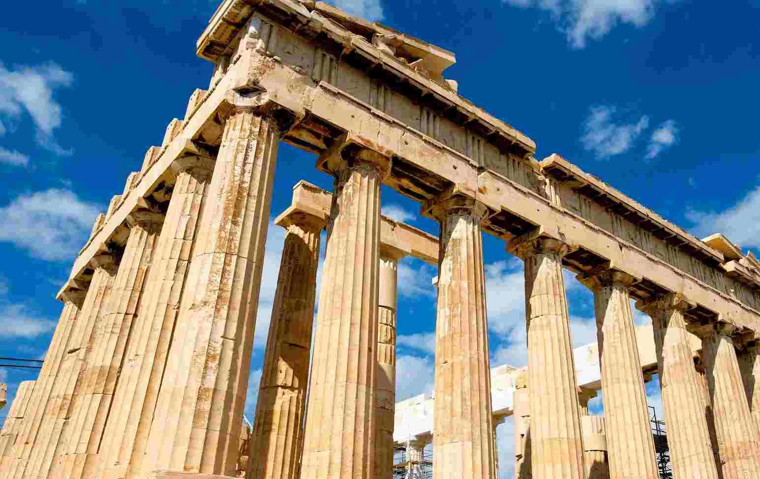 Imagen de las columnas del Partenón del Acrópolis de Atenas