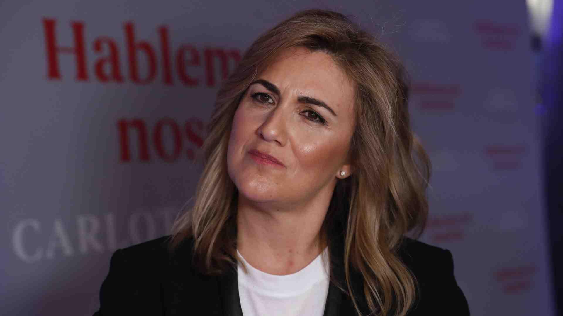 Carlota Corredera durante la presentación de uno de sus libros