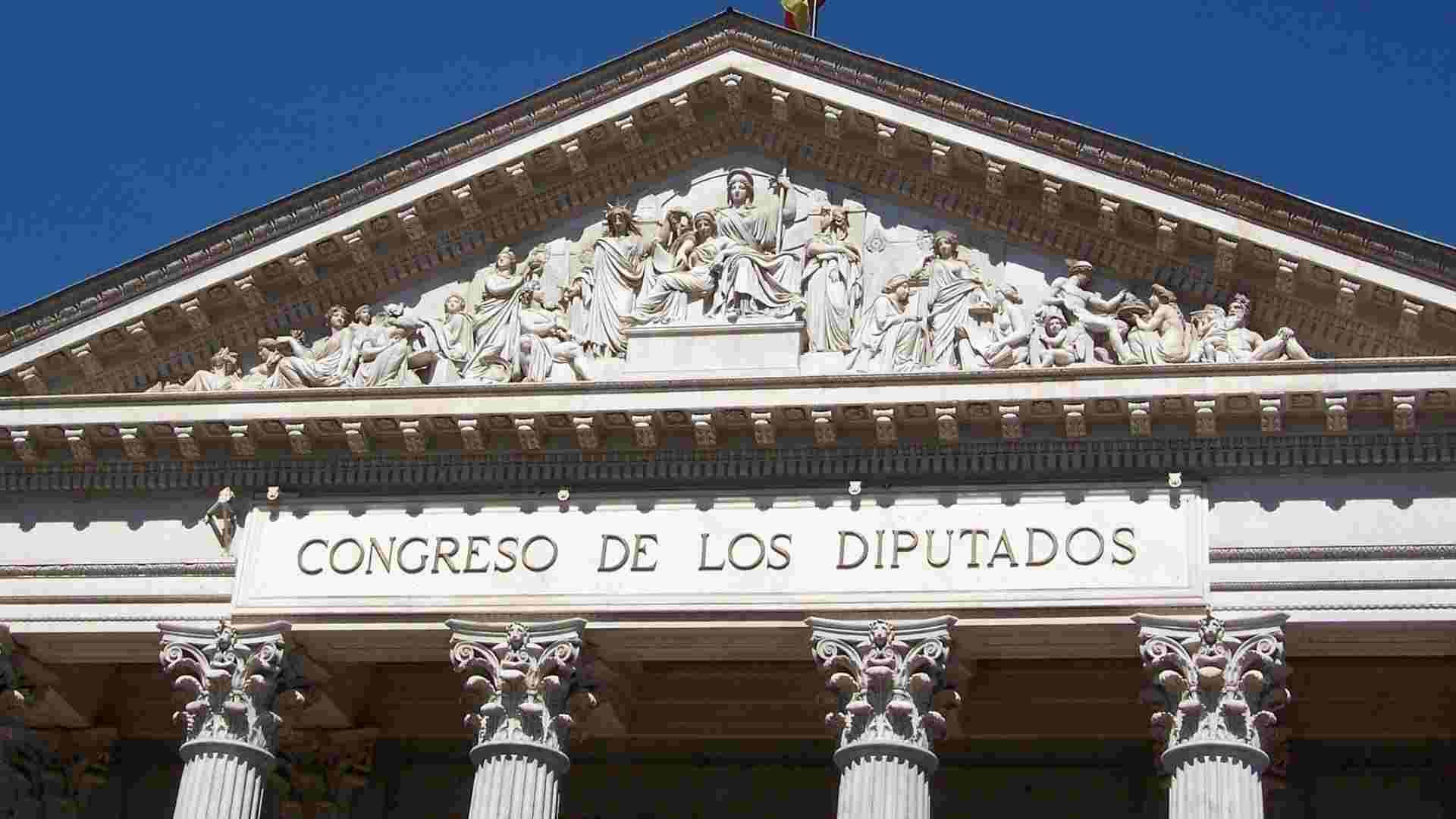 Fachada principal del Congreso de los Diputados de España