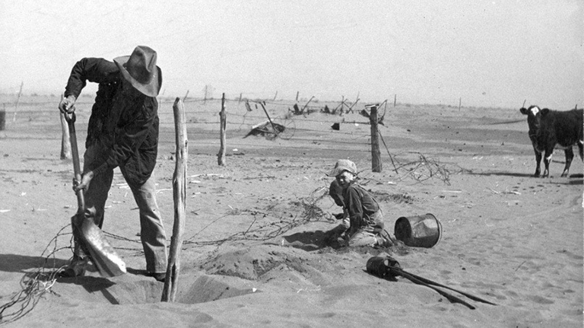 Imatge de l'exposició 'The Dust Bowl' del Museu de la Vida Rural.