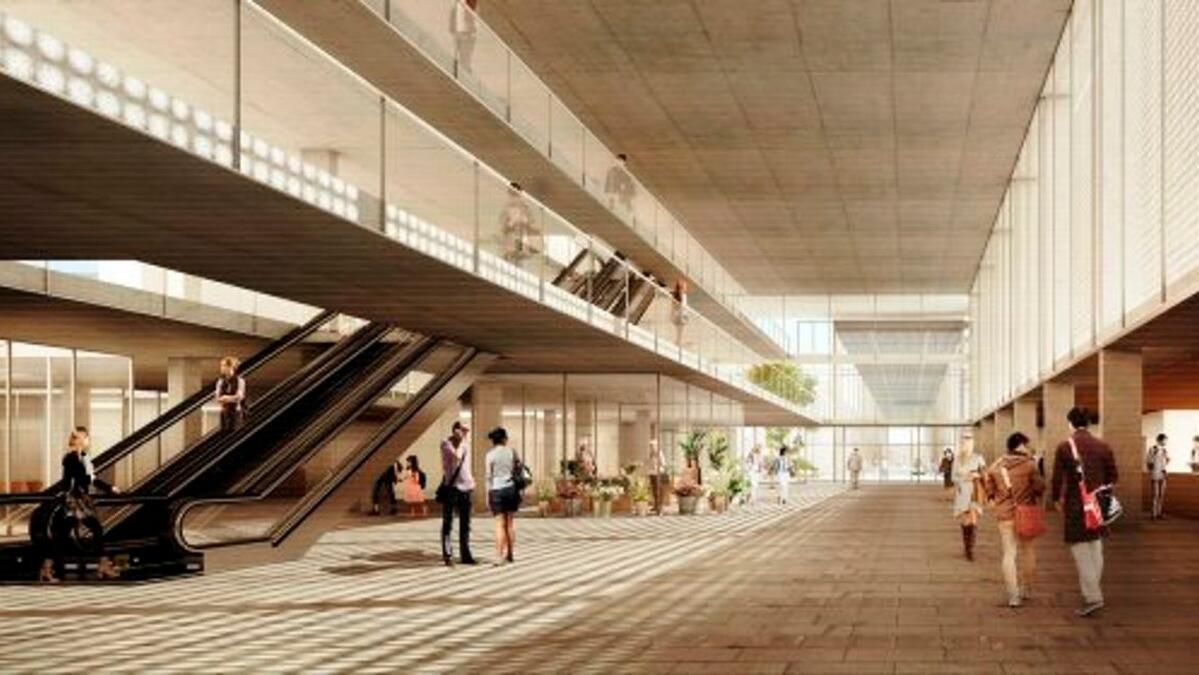 Recreació del vestíbul de projecte guanyador per al nou Hospital Joan XXIII que es construirà en la primera fase.